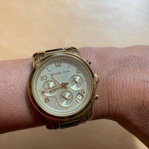 Michael Kors Gold & Tortoise Watch